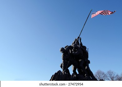 Iwo Jima, the United States Marine Corps Memorial, in Arlington, Virginia