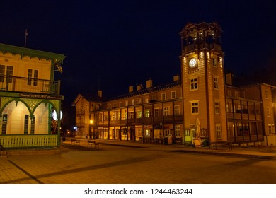 Iwonicz Zdroj/Poland - 02.12.2018: Iwonicz Zdroj during the night. This is very popular place in Poland if you want to rest.