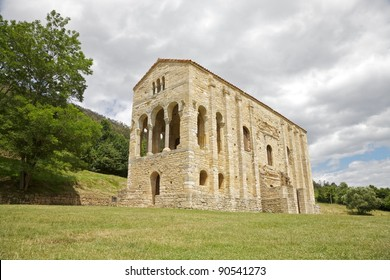 IX century Santa Maria del Naranco church near Oviedo city in Asturias
