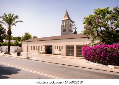 Ixia , Rhodes, Greece - May 30, 2018.  A view from a street on Sunprime Miramare Beach resort in Ixia near Ialyssos on Rhodes Island on sunny day