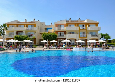 Ixia, Rhodes, Greece - September 2014: Smartline Cosmopolitan Hotel. Zeus hotels. Hotel building and outdoor swimming pool