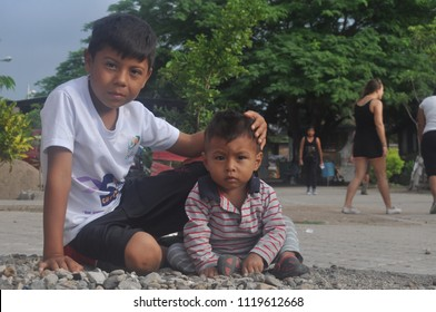 Ixtepec, Oaxaca/Mexico. June, 2016. Central American children in the Hermanos en el Camino shelter.