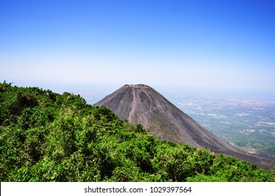 The Izalco Volcano located in Santa Ana, El Salvador during a clear sunny day.