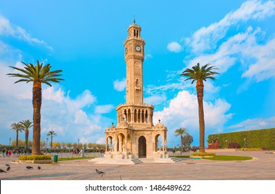 Izmir clock tower. The famous clock tower became the symbol of Izmir