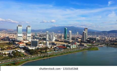 Izmir skyline. Izmir is the 3rd largest city in Turkey.