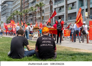 Izmir / Turkey - 05/01/2018 : Labours Day Meeting from Izmir, Turkey.