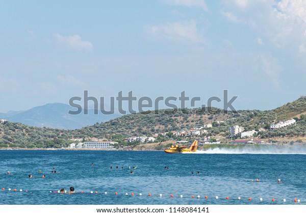 Izmir Turkey 07302018 Water Bomber Plane Stock Photo Edit Now 1148084141