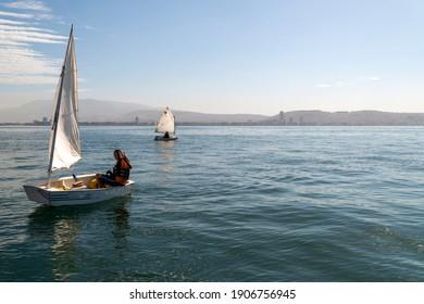 izmir Turkey - 10 18 2014 : preparation before sailing races