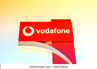 Izmir, Turkey 28 JULY, 2018: Vodafone Store - Vodafone is a British multinational telecommunications company and It is the one of the world's largest mobile telecommunications company.
