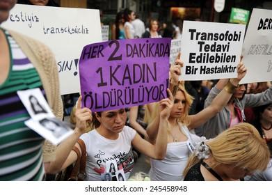 IZMIR, TURKEY - APRIL  28: Memorial was held for slain 3 travesty on  April 28, 2010 in Izmir, Turkey.
