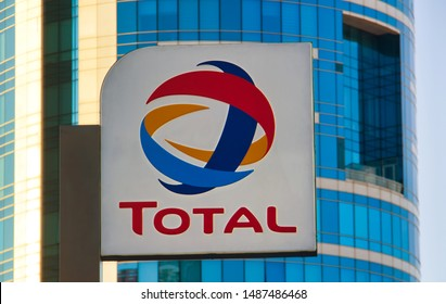 Izmir TURKEY - August 15, 2019 :Total oil station. Total S.A. is a French multinational integrated oil and gas company. Its business covers the entire oil and gas chain, from crude oil and natural gas