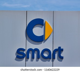 Izmir TURKEY - August 5, 2018 : Smart is a German automotive marque and division of Daimler AG founded at 1994.