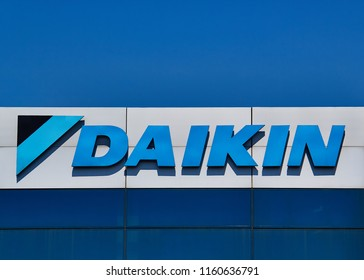 Izmir TURKEY - August 5, 2018 : Daikin is a Japanese multinational air conditioner manufacturing company headquartered in Osaka.