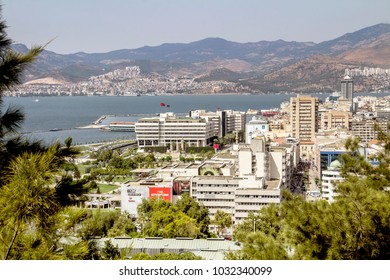 Izmir, Turkey - July, 2014 : Konak District  in Izmir City. Izmir is populer tourist destination in Turkey.