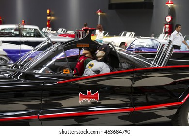 IZMIR, TURKEY - JULY 2016: 1966 Batmobile. The Key Museum was born in the soul of the collectors Murat Ozgorkey, Vice President Selim Ozgorkey and the Chief Executive Officer of E.Ozgorkey