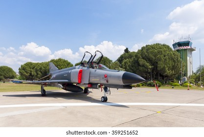 Izmir, Turkey - June 01, 2011 : The Turkish Air Force celebrated it's 100th Anniversary, the highlight being a special air show held at the 2nd Main Jet Base at Cigli near Izmir on the Aegean coast.
