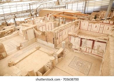 IZMIR, TURKEY - JUNE 20, 2017: Terrace Houses in Ephesus Ancient City, Izmir, Turkey
