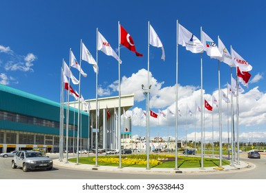 Izmir, Turkey - March 25, 2016 : The 22nd International Natural Stone and Technologies Fair will be held on March 23 - 26, 2016 at the newest and most modern fairground of Turkey.