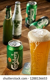 IZMIR, TURKEY - MAY 15, 2017 Carlsberg beers