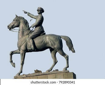 IZMIR, TURKEY-MAR. 31, 2008:  The Ataturk Equestrian Monument, dedicated to the Turkish War of Independence in July 1932 was designed by Pietro Canonica and Asim Komurcu.