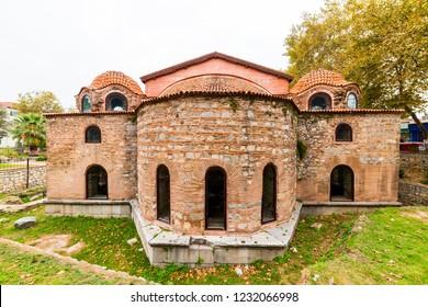 IZNIK HAGIA SOPHIA MOSQUE (Iznik Ayasofya Orhan Camii). Historical old Byzantine church. First built as a church, It was converted to a mosque. Iznik, Bursa, Turkey.