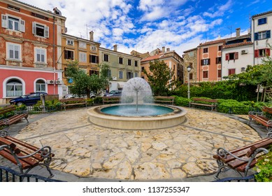 Izola, Slovenia - September 20, 2016: cityscape of Isola. The historic city center with bright colorful buildings. Sightseeing of Slovenia, a popular tourist destination