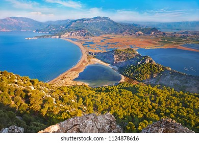 Iztuzu beach and Dalyan river delta, Turkey