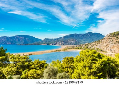 Iztuzu Beach view from Hill in Dalyan of Turkey