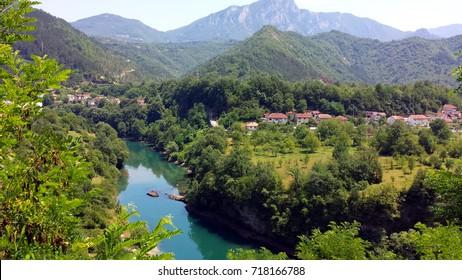 Jablanica and river Neretva, Bosnia and Herzegovina