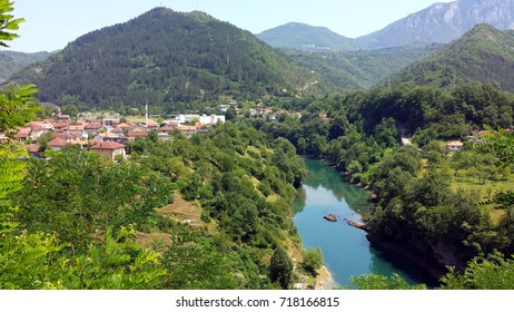 Jablanica and river Neretva, Bosnia and Herzegovina