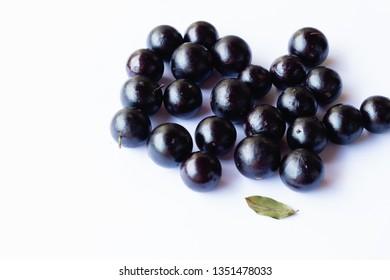 Jaboticaba fruits with white background