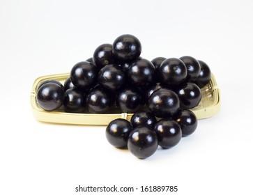 Jabuticabas. Brazilian fruit also known as Brazilian grapes.