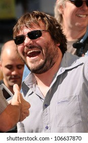 Jack Black  at the Hollywood Walk of Fame Ceremony Honoring Tim Robbins. Hollywood Boulevard, Hollywood, CA. 10-10-08