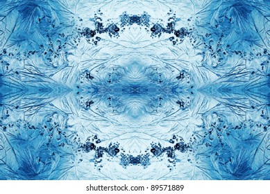 jack frost ice crystals, feathery patterns abstract