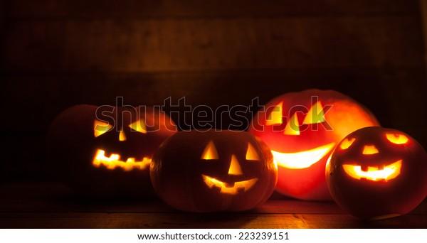 Jack O' Lantern at Night