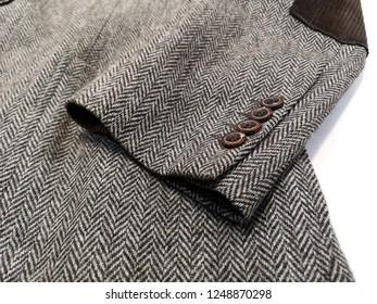 jacket, blazer, Light grey woolen or tweed fabric for grunge background