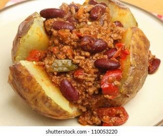 Jacket potato with chilli con carne