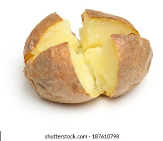 Jacket potato filled with grated cheese
