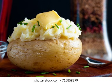 Jacket potato served with homemade butter