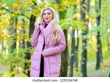 Jackets everyone should have. Girl fashionable blonde walk in park. Best puffer coats to buy. How to rock puffer jacket like star. Puffer fashion concept. Outfit prove puffer coat can look stylish.