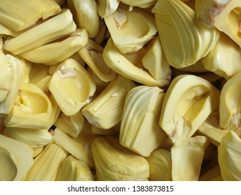 Jackfruit, the delicious fruit in Thailand. Jackfruit can eat fresh or use as ingredient for home made bekery or snack.