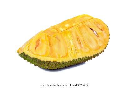 Jackfruit isolated on white background .