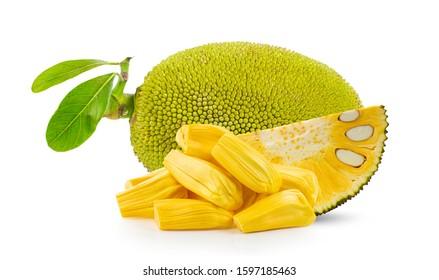 Jackfruit with isolated on white background