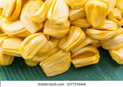 jackfruit on banana leaf