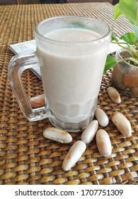 Jackfruit seed juice or jackfruit seed milk shake