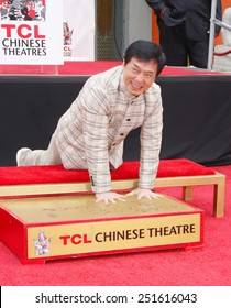 Jackie Chan at the Jackie Chan Hand & Foot Print Ceremony held at the TCL Chinese Theatre on June 6, 2013 in Los Angeles, California.