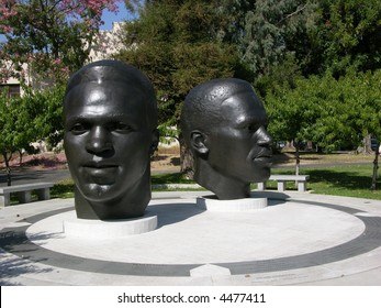Jackie Robinson Head Statue