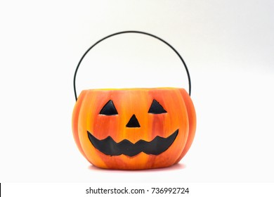 Jack'O pumpkin basket to collect candy on Halloween day