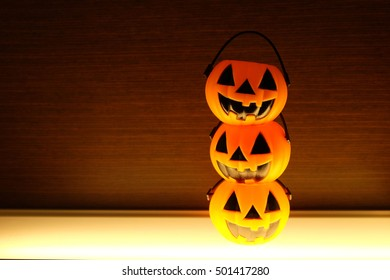jack-o'-lantern in halloween decoration