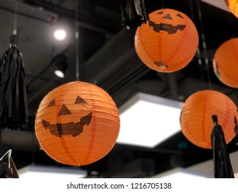 jack-o'-lanterns in the Halloween party. Halloween is a celebration observed in a number of countries on 31 October, the eve of the Western Christian feast of All Hallows' Day.